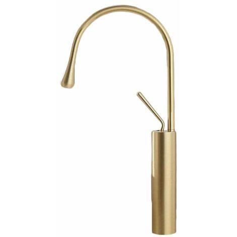 "main image of ""Grifo monomando lavabo giratorio CALGARY dorado"""