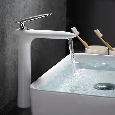 Grifo monomando moderno para lavabo en negro