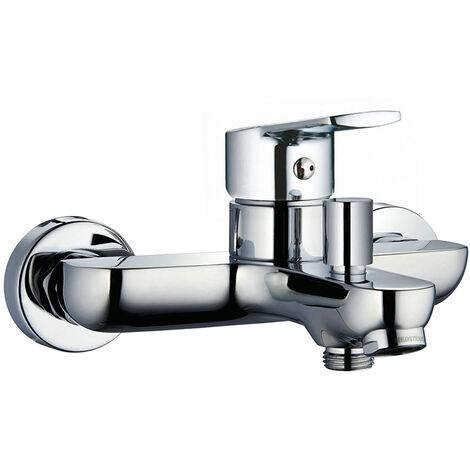 Grifo monomando para bañera de la serie SIO con desviador de dos vías. Incluye ducha de mano, flexo y soporte cromado. Fabricado en latón con acabados en cromo brillo. Repuestos ogarantizados Kibath