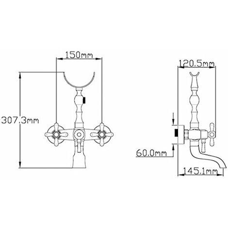 Grifo monomando para baño ducha Clásica