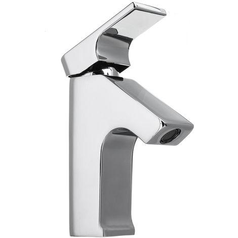 Grifo monomando para lavabo de latón cromado
