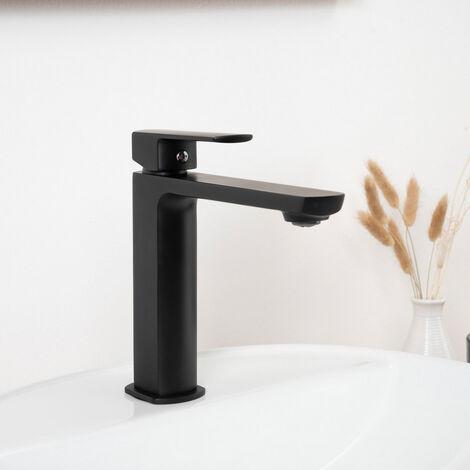 Grifo negro para lavabo Louga