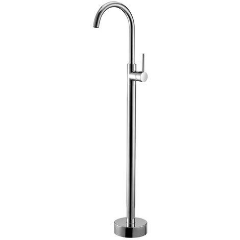 Grifo para bañera independiente clásico con fijación al suelo