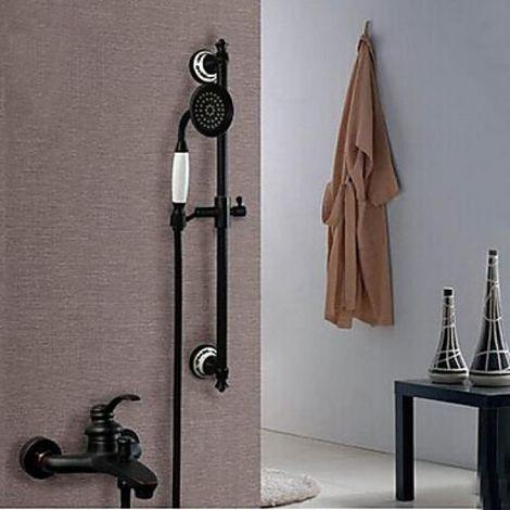 Grifo para ducha con fijación a pared, acabado en bronce frotado con aceite
