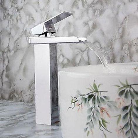 Grifo para fregadero en cascada, estilo moderno con grifo monomando