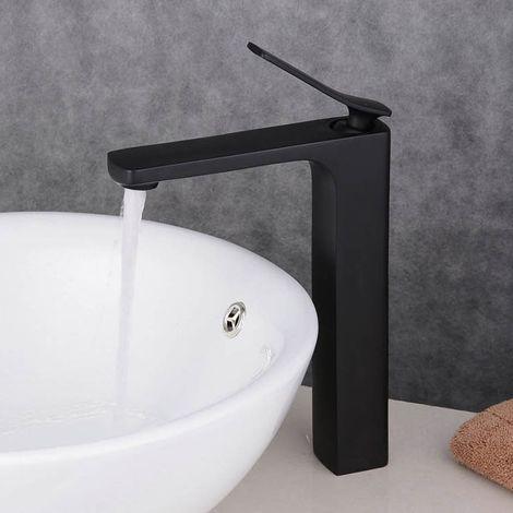 Grifo para lavabo con relieve clásico en latón macizo Blanco dorado