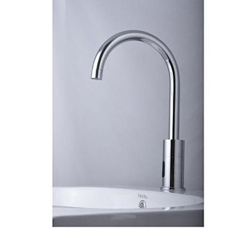 Grifo para lavabo con sensor automático de temperatura (frío), estilo contemporáneo