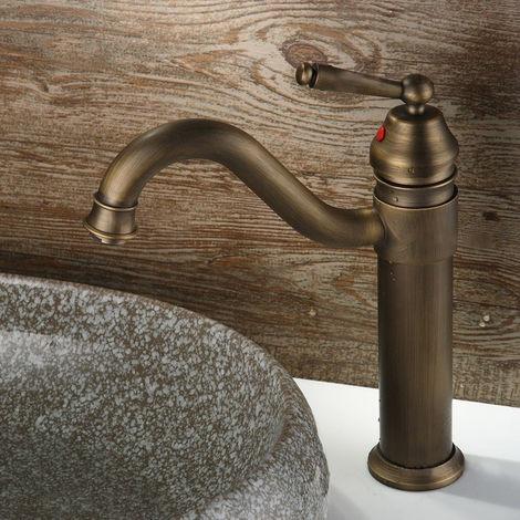 Grifo para lavabo de estilo vintage en latón macizo