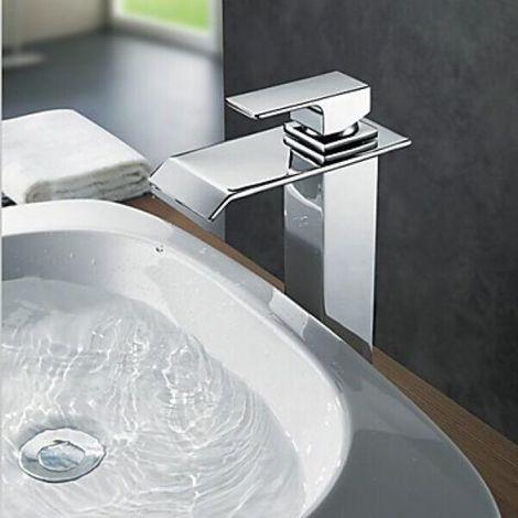 Grifo para lavabo de latón, estilo moderno, altura 260 mm