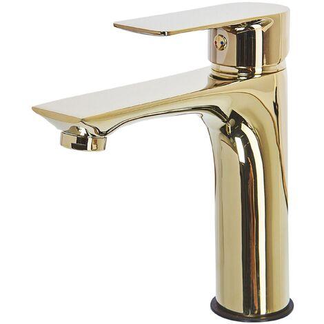 Grifo para lavabo dorado BERLOI