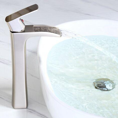 Grifo para lavabo moderno con caño en cascada Antique Black