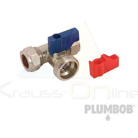 Grifo para lavadora en T (Plumbob-913741)