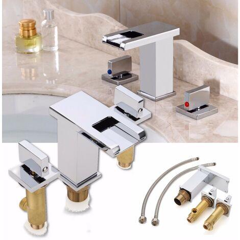 Grifo Temperatura Sensor Color Cambio Led Agua caliente / fría Mezclador de fregadero Hasaki