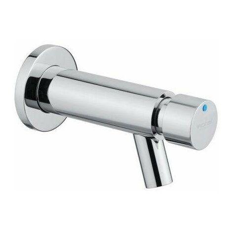 Grifo temporizado colección MINIMAL de pared para lavabo con pulsador Idral 800.00   Cromo