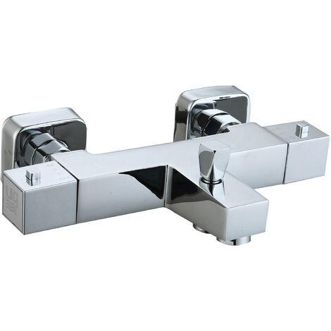 Grifo termostático de bañera Talavera con set de fijación