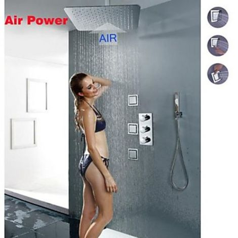Grifo termostático de ducha con ducha fija