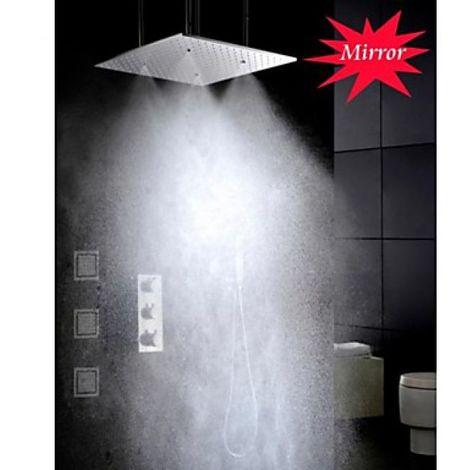 Grifo termostático de ducha con rociador, chorros de agua de masaje