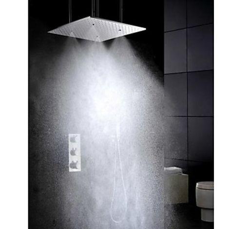 Grifo termostático de ducha con rociador oscilante