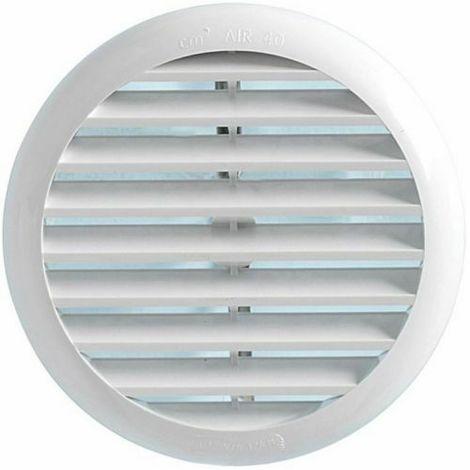 diametro 270 mm Bianca La Ventilazione TUR250B Griglia di Ventilazione Tonda universale in Plastica con molle