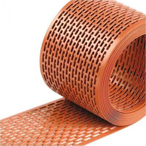 GRIGLIA di Ventilazione E PARAPASSERI in PVC per Tetto VENTILATO Rotolo ml 5x100 mm Dakota