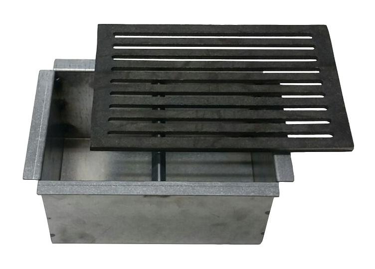 Griglia in ghisa per camino cm 20,5x31,5 con cassetto raccogli cenere h cm 14 scegli articolo: griglia +