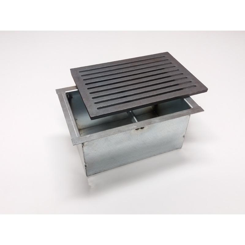 Griglia in ghisa per camino cm 20,6x30 con cassetto raccogli cenere h cm 14 scegli articolo: griglia + ca