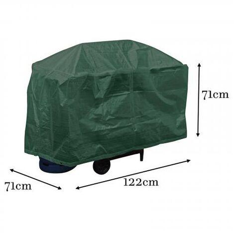 Grill Abdeckplane Wetterschutz Grillplane Gasgrill Plane BBQ Cover grün