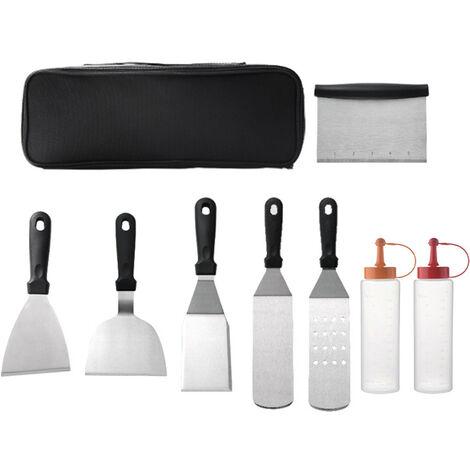 Grill Outils Kit Carry Case Ustensile De Cuisine En Acier Inoxydable Bbq Barbecue Accessoires Spatule Badigeonner Goupillon