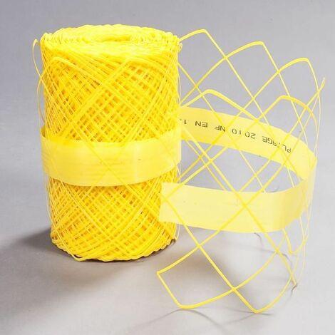 Grillage avertisseur 87-30 jaune 30cm rouleau de 100m