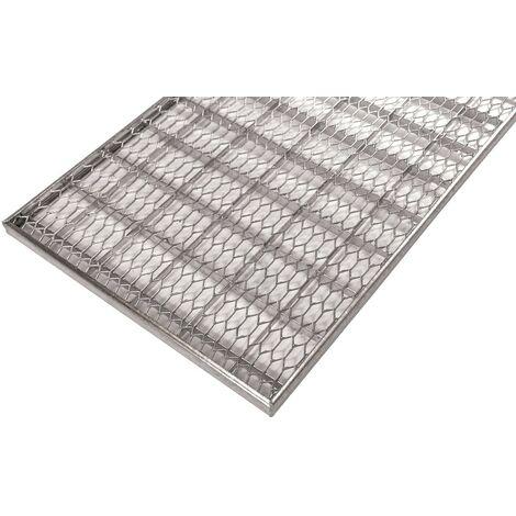 grillage caillebotis standard en métal déployé galvanisé 600x400x20mm