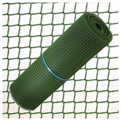 Grillage carrés plastique 0,5 cm x 1 mètre vert rouleau 25 mètres