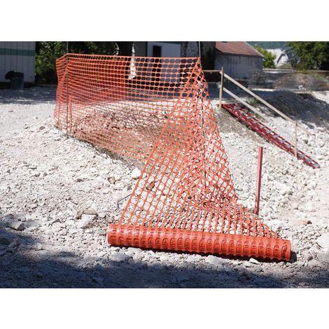 Grillage de chantier Novap - Orange - Longueur 50 m - Largeur 1 m