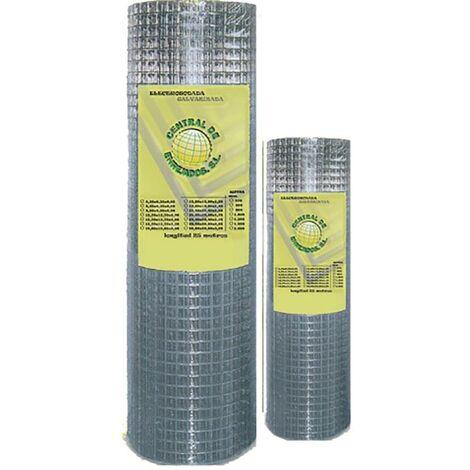 Grillage de clôture électrosoudé 25X25X1,60X1,00 25Mt Tissus métalliques en acier galvanisé Metali