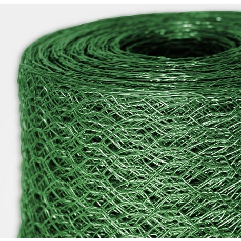 Grillage de clôture | Vert | Maille hexagonale 13 mm | HxL 1 x 10 m | Certeo - Vert