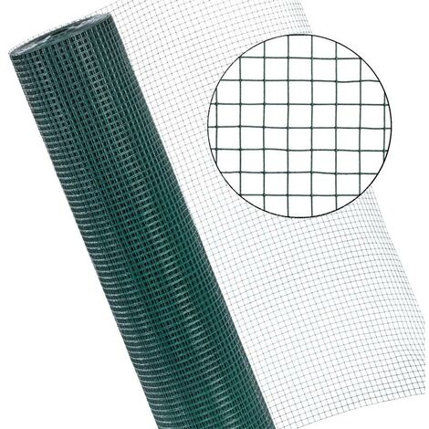 Grillage de volière Grillage métallique 1x25 m clôture métallique 12x12 mm Mesh