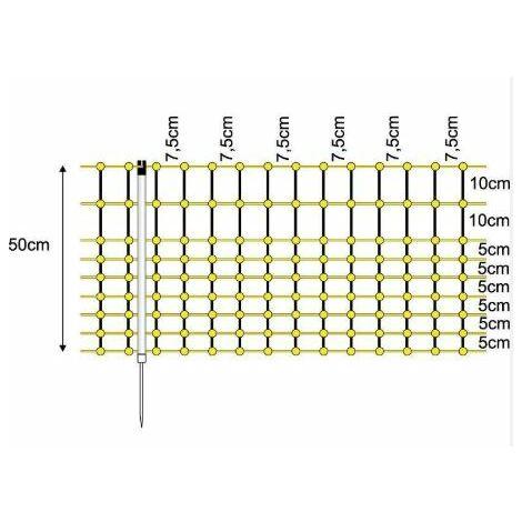 Grillage électrique pour lapins 0,50 x 0,50m - berger électrique