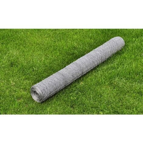 Grillage Galvanise a Mailles Hexagonales 0,75Mm 50Cm X 25 M