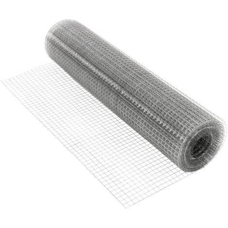 Grillage mailles clôture de jardin filet volière galvanisée 0,75 mm 19x19mm 25m