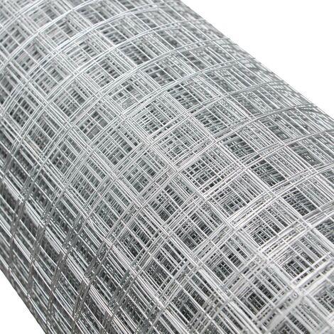 Grillage mailles Grille m�tallique Voli�re Acier Galvanis� 1mx25m �paisseur fil 0,9mm Maille 25x25mm