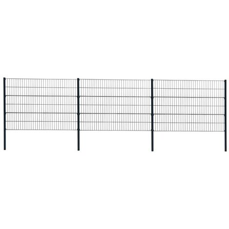 Grillage métallique de clôture clôture double 120cm RAL 7016