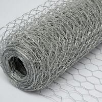 Grillage Métallique pour Cloture | Maillage Hexagonal : 25x25mm | Longueur 25m | Hauteur 100cm | Clôture pour animaux et plantes | Galvanisé 0.6mm