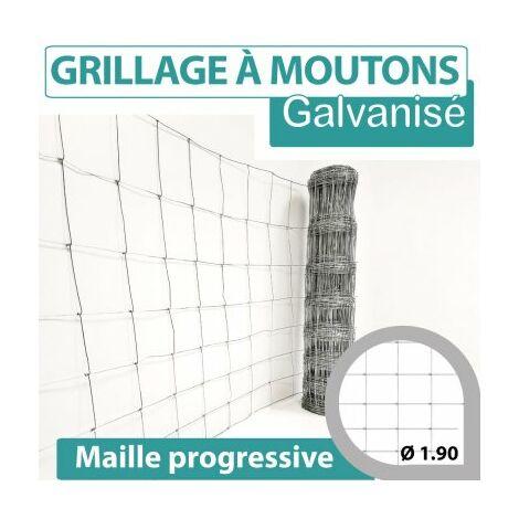 Grillage Noué - Grillage A Moutons - Mailles Progressives - 1,5 mètre