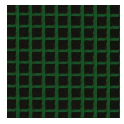 Grillage plastique maille carrée h 1 x l 3 m vert 10 x 10