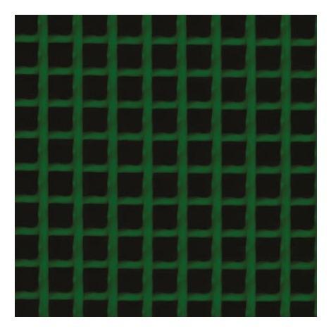 Grillage plastique maille carrée Catral - Vert - Longueur 3 m - Hauteur 1 m