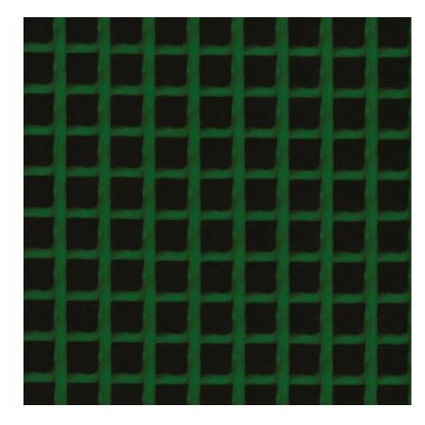 Grillage plastique maille carrée h 1 x l 25 m vert 5 x 5