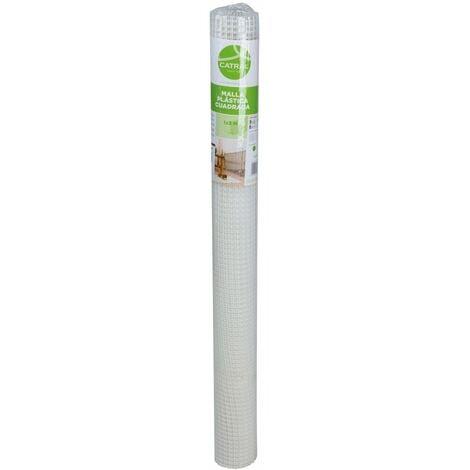 Grillage plastique maille carrée h. 1 x l. 3 m blanc 10 x 10