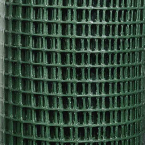 Grillage plastique vert 9x9 mm Taille 0,5 x 5 m