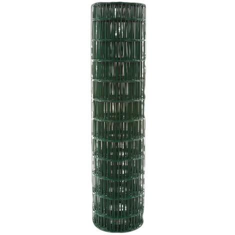 Grillage résidentiel plastifié vert Filiac - Maille 100 x 50 mm - Hauteur 1,5 m - Longueur 25 m - Vert, RAL 6005