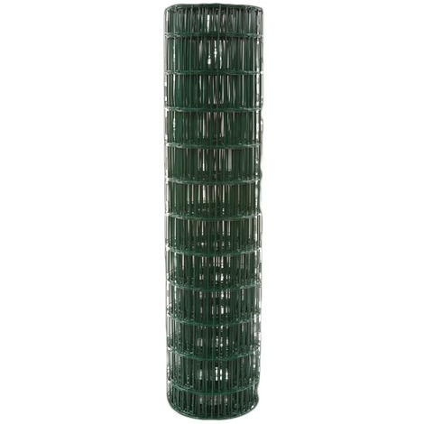 Grillage résidentiel plastifié vert Filiac - Maille 100 x 75 mm - Hauteur 1 m - Longueur 25 m - Vert, RAL 6005