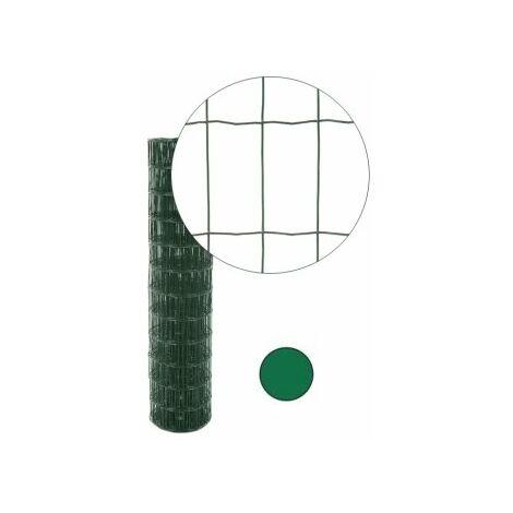 Grillage résidentiel plastifié vert - Maille 100 x 50 mm, Longueur 25 m